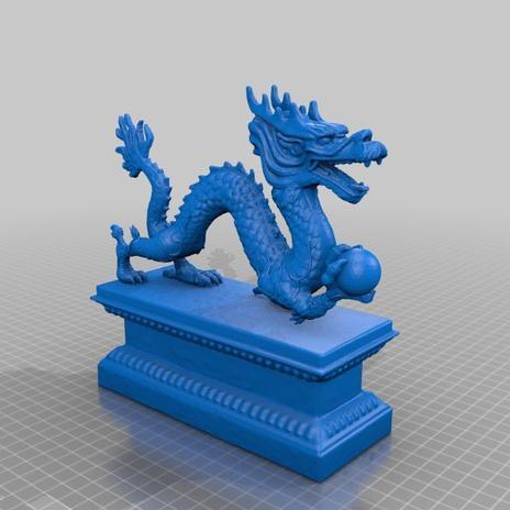 昂首之龙3D打印模型,昂首之龙3D模型下载,3D打印昂首之龙模型下载,昂首之龙3D模型,昂首之龙STL格式文件,昂首之龙3D打印模型免费下载,3D打印模型库