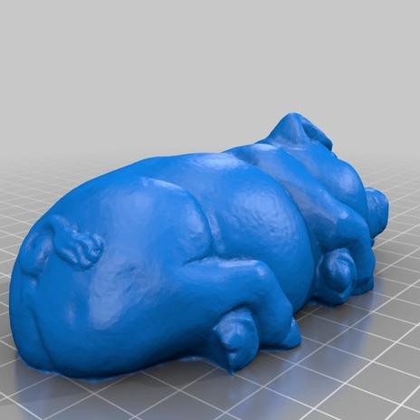 睡猪3D打印模型,睡猪3D模型下载,3D打印睡猪模型下载,睡猪3D模型,睡猪STL格式文件,睡猪3D打印模型免费下载,3D打印模型库