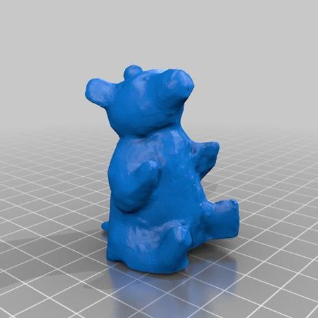 粘土熊3D打印模型,粘土熊3D模型下载,3D打印粘土熊模型下载,粘土熊3D模型,粘土熊STL格式文件,粘土熊3D打印模型免费下载,3D打印模型库