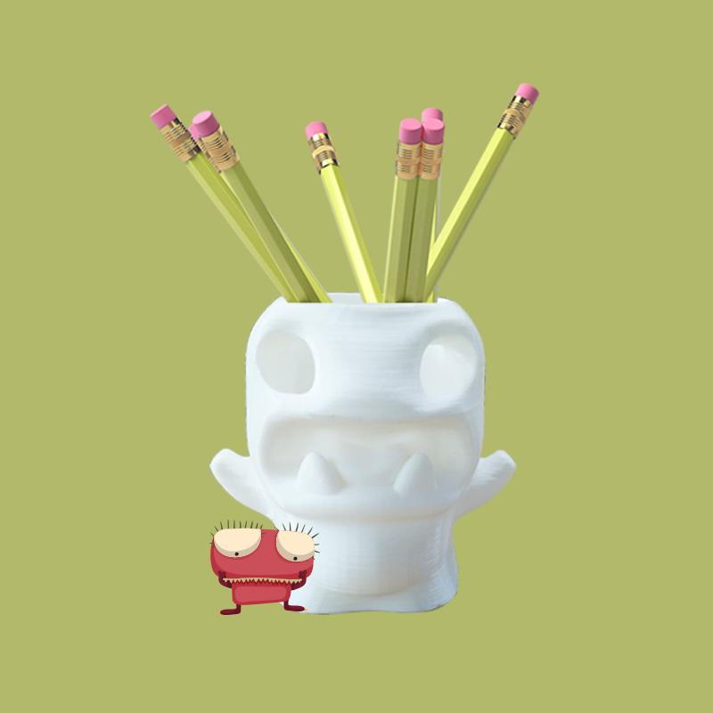怪物笔筒3D打印模型,怪物笔筒3D模型下载,3D打印怪物笔筒模型下载,怪物笔筒3D模型,怪物笔筒STL格式文件,怪物笔筒3D打印模型免费下载,3D打印模型库