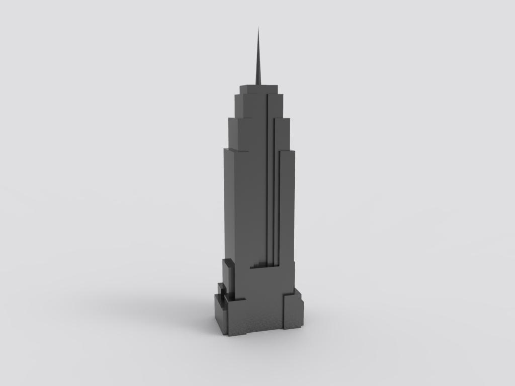 3D打印 帝国大厦模型图片、模型下载、STL文件下载