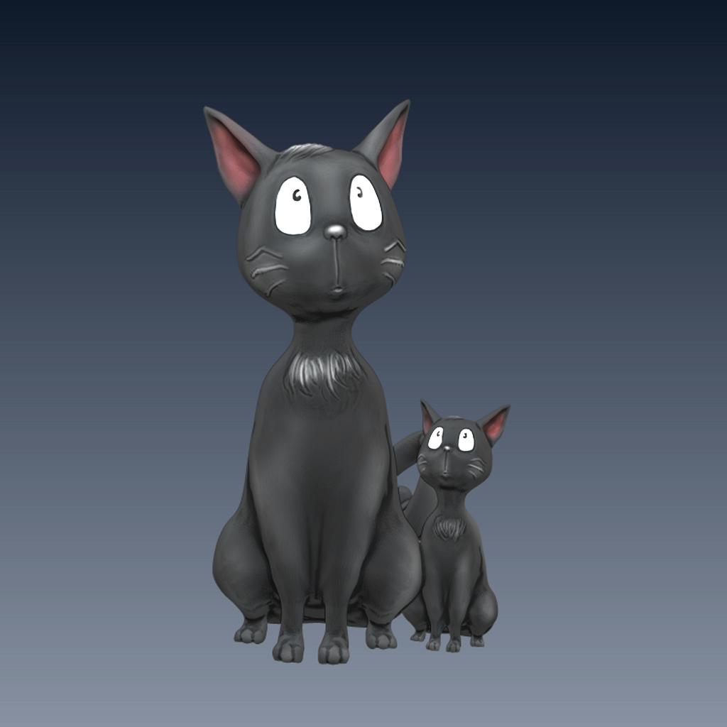 黑猫3D打印模型,黑猫3D模型下载,3D打印黑猫模型下载,黑猫3D模型,黑猫STL格式文件,黑猫3D打印模型免费下载,3D打印模型库