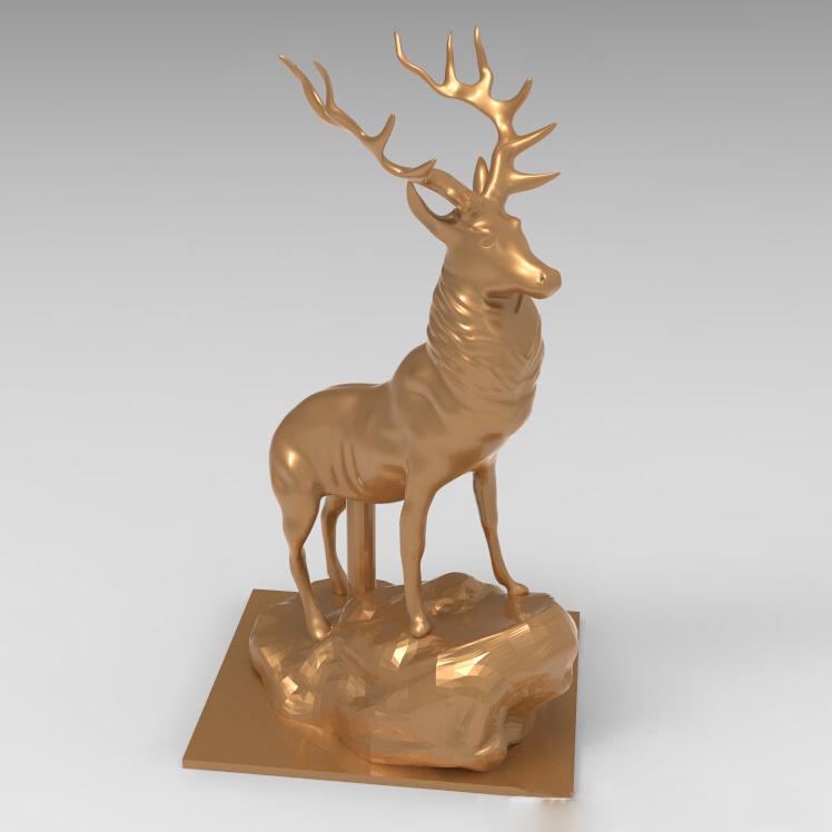雄鹿3D打印模型,雄鹿3D模型下载,3D打印雄鹿模型下载,雄鹿3D模型,雄鹿STL格式文件,雄鹿3D打印模型免费下载,3D打印模型库