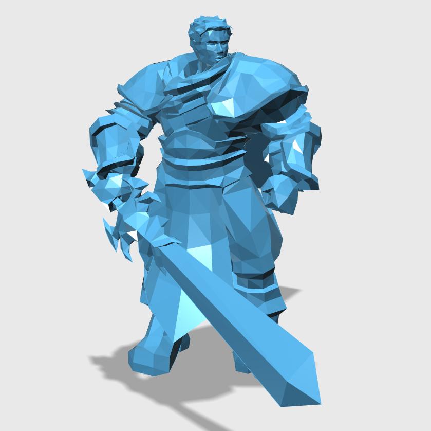 Garen3D打印模型,Garen3D模型下载,3D打印Garen模型下载,Garen3D模型,GarenSTL格式文件,Garen3D打印模型免费下载,3D打印模型库