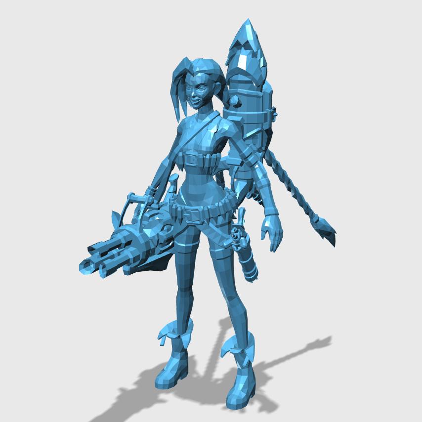 Jinx3D打印模型,Jinx3D模型下载,3D打印Jinx模型下载,Jinx3D模型,JinxSTL格式文件,Jinx3D打印模型免费下载,3D打印模型库