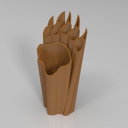 熊爪花瓶3D打印模型,熊爪花瓶3D模型下载,3D打印熊爪花瓶模型下载,熊爪花瓶3D模型,熊爪花瓶STL格式文件,熊爪花瓶3D打印模型免费下载,3D打印模型库