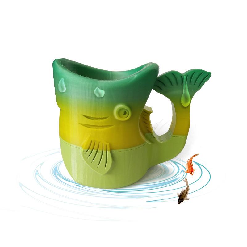 鱼水杯(渐变色)3D打印模型,鱼水杯(渐变色)3D模型下载,3D打印鱼水杯(渐变色)模型下载,鱼水杯(渐变色)3D模型,鱼水杯(渐变色)STL格式文件,鱼水杯(渐变色)3D打印模型免费下载,3D打印模型库