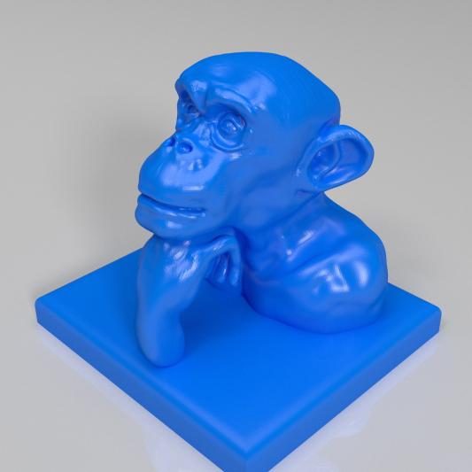 思考的猩猩3D打印模型,思考的猩猩3D模型下载,3D打印思考的猩猩模型下载,思考的猩猩3D模型,思考的猩猩STL格式文件,思考的猩猩3D打印模型免费下载,3D打印模型库