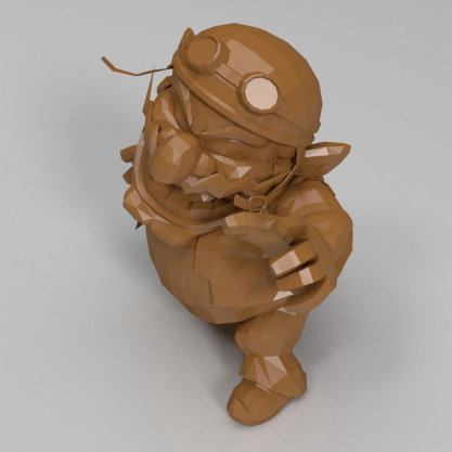 瓦里奥3D打印模型,瓦里奥3D模型下载,3D打印瓦里奥模型下载,瓦里奥3D模型,瓦里奥STL格式文件,瓦里奥3D打印模型免费下载,3D打印模型库