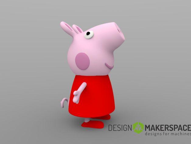 Peppa猪3D打印模型,Peppa猪3D模型下载,3D打印Peppa猪模型下载,Peppa猪3D模型,Peppa猪STL格式文件,Peppa猪3D打印模型免费下载,3D打印模型库