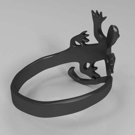 蜥蜴戒指3D打印模型,蜥蜴戒指3D模型下载,3D打印蜥蜴戒指模型下载,蜥蜴戒指3D模型,蜥蜴戒指STL格式文件,蜥蜴戒指3D打印模型免费下载,3D打印模型库