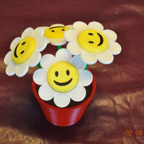 笑脸的花3D打印模型,笑脸的花3D模型下载,3D打印笑脸的花模型下载,笑脸的花3D模型,笑脸的花STL格式文件,笑脸的花3D打印模型免费下载,3D打印模型库