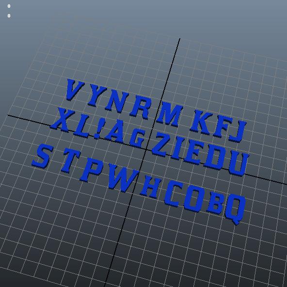 英语字母3D打印模型,英语字母3D模型下载,3D打印英语字母模型下载,英语字母3D模型,英语字母STL格式文件,英语字母3D打印模型免费下载,3D打印模型库