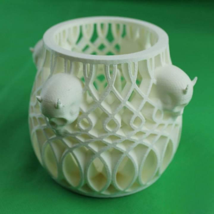 3D打印 骷髅笔筒 STL数据,STL数据下载
