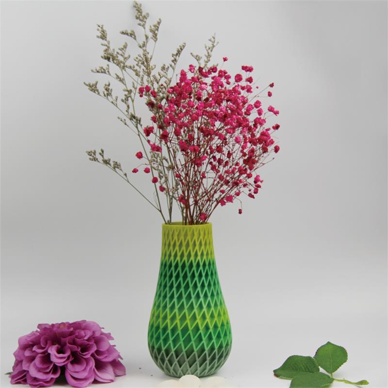 3D打印螺旋菱形花瓶(渐变色)