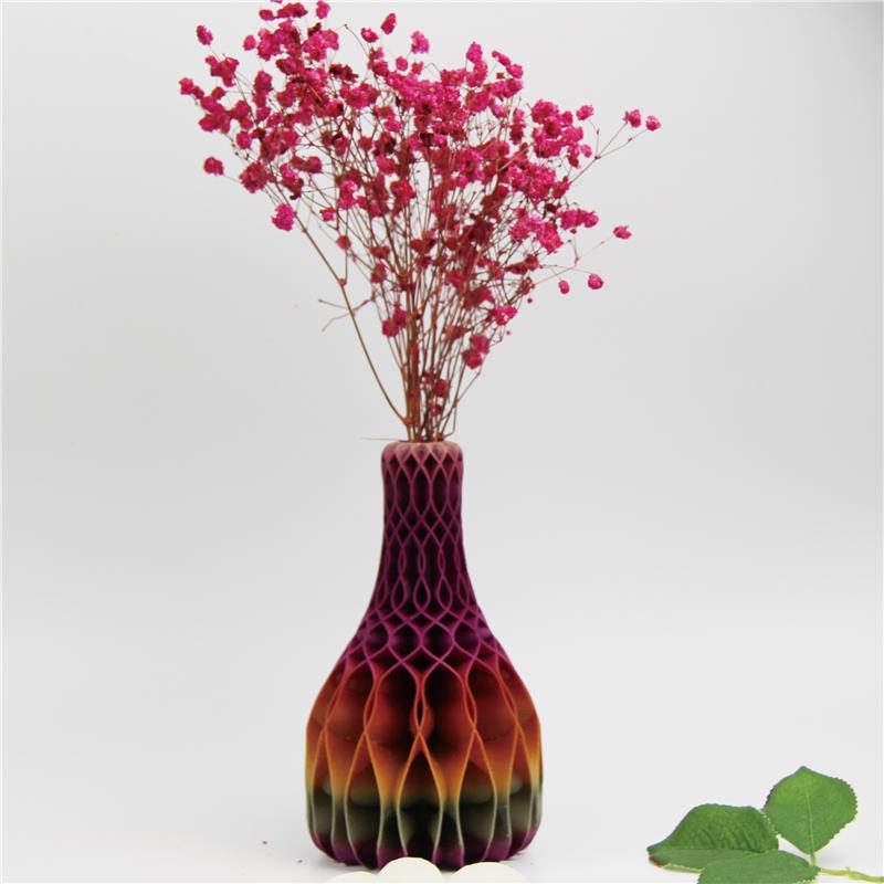 3D打印彩色花纹螺旋花瓶