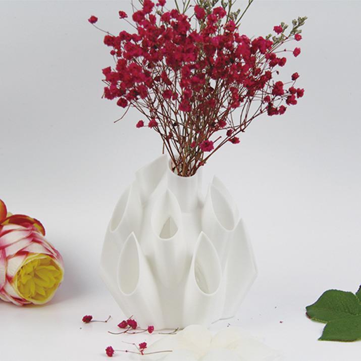 3D打印多插口花瓣花瓶