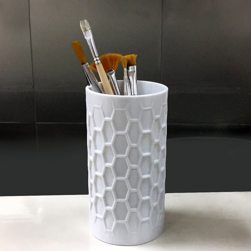 3D打印 六边形圆柱笔筒 STL数据,STL数据下载