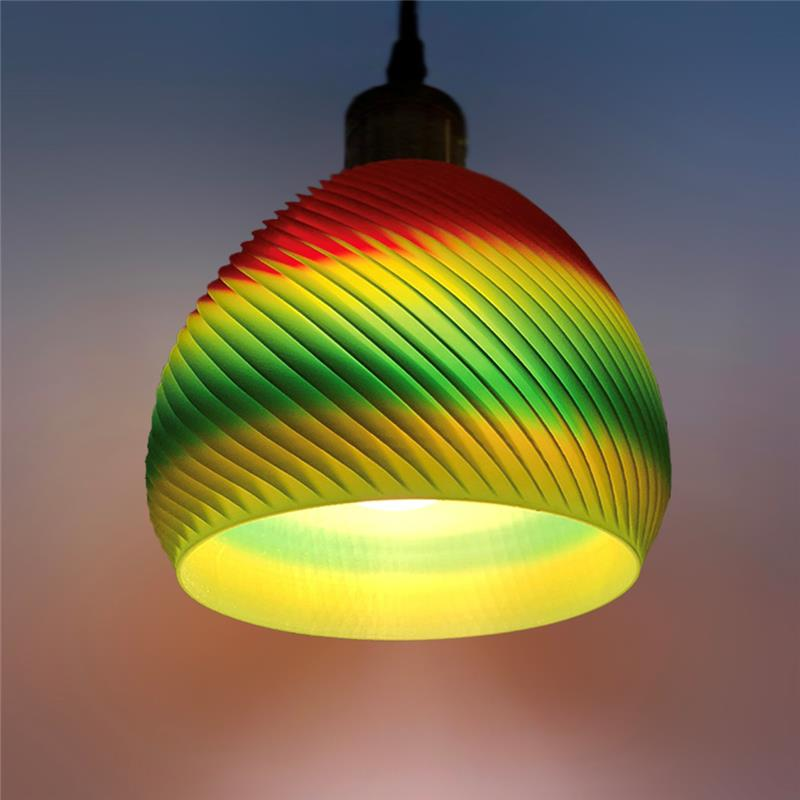 3D打印 螺旋吊灯灯罩 STL数据下载