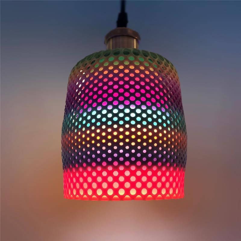 3D打印星空炫彩吊灯灯罩(渐变色)