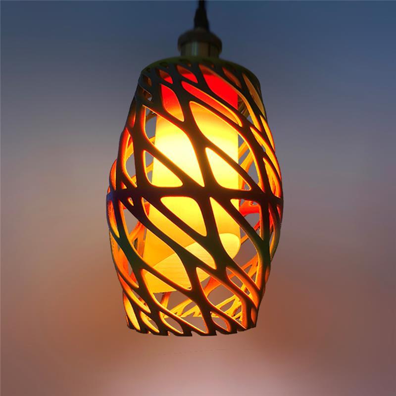 3D打印长行鸟巢镂空灯罩