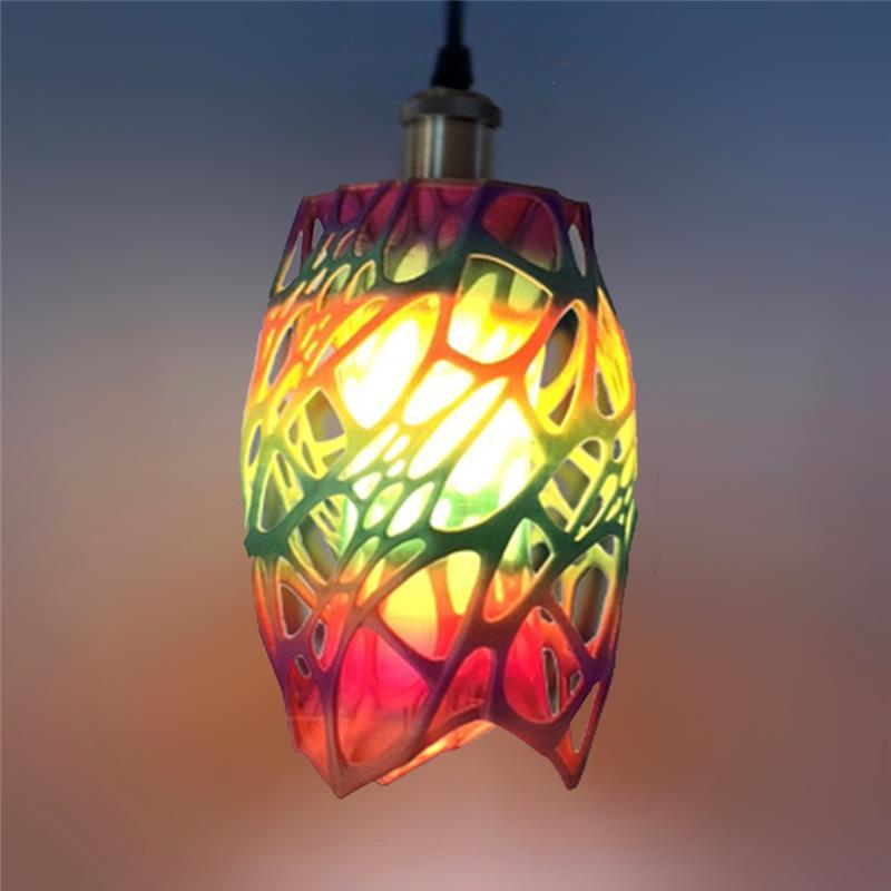 3D打印 长行艺术镂空灯罩 STL数据下载