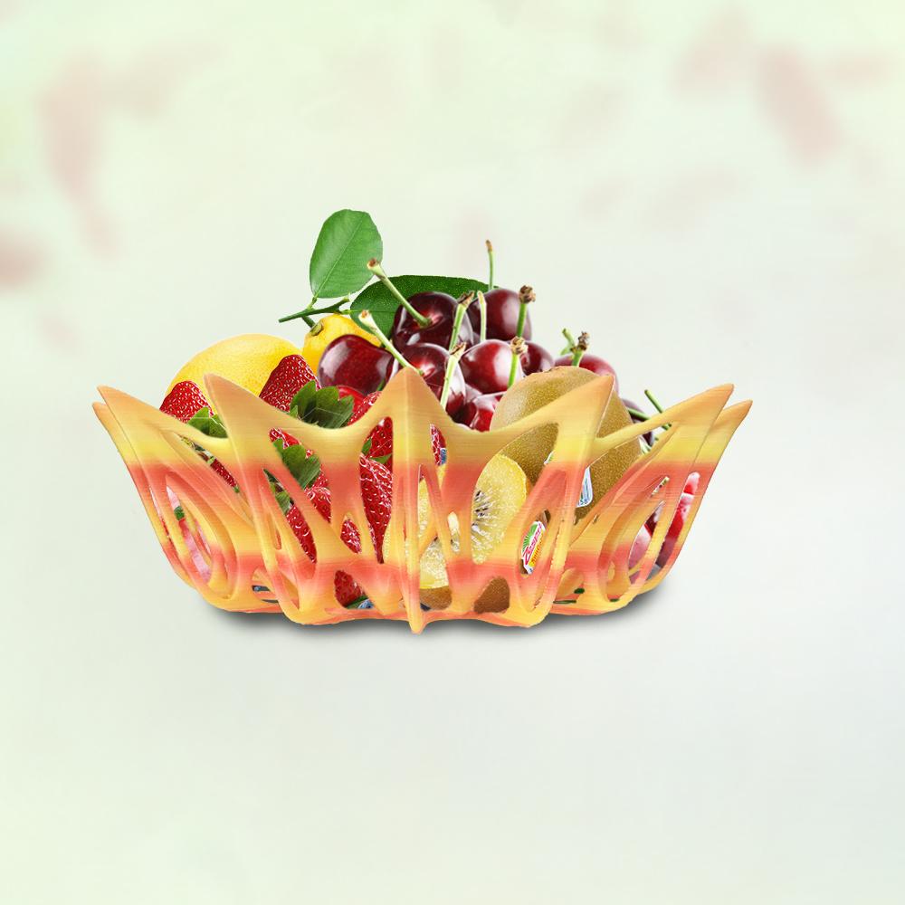 3D打印镂空水果篮(渐变色)
