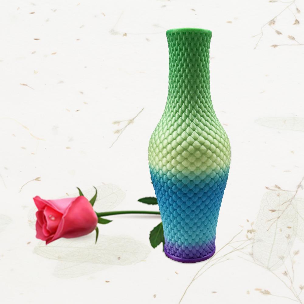3D打印鳞波花瓶(渐变色)
