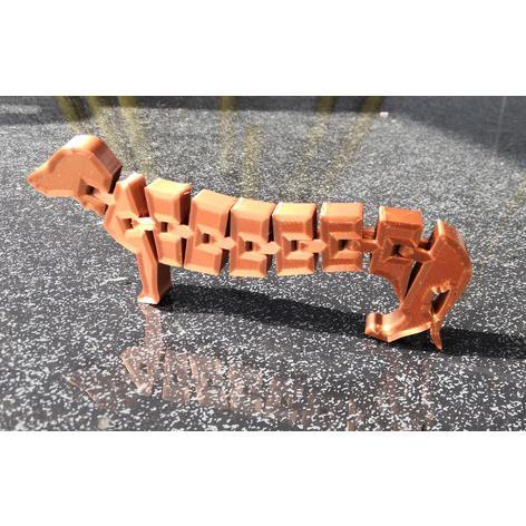 3D打印腊肠狗 STL数据下载、在线打印