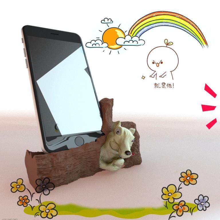 3D打印 卡通手机架模型图片、模型下载、STL文件下载