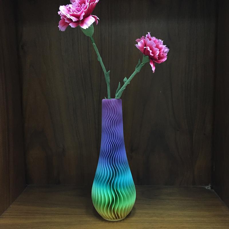 3D打印波纹长颈花瓶