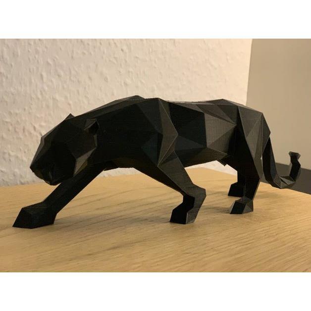 3D打印 折纸猎豹模型图片、模型下载、STL文件下载
