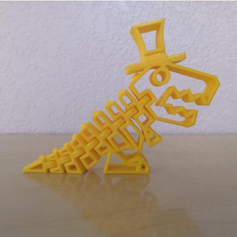 3D打印 戴帽小恐龙模型图片、模型下载、STL文件下载