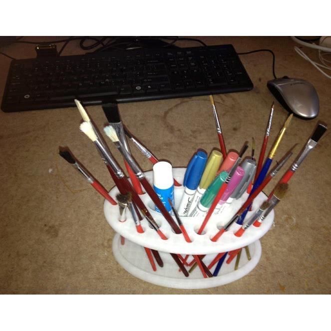 3D打印油画笔刷架子 STL数据下载、在线打印