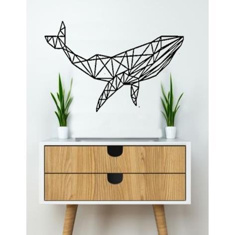 3D打印鲸鱼墙雕塑