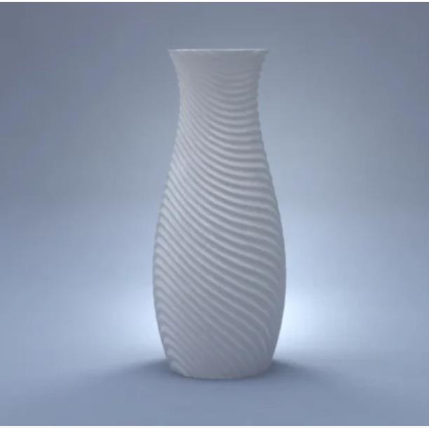 3D打印波浪花瓶
