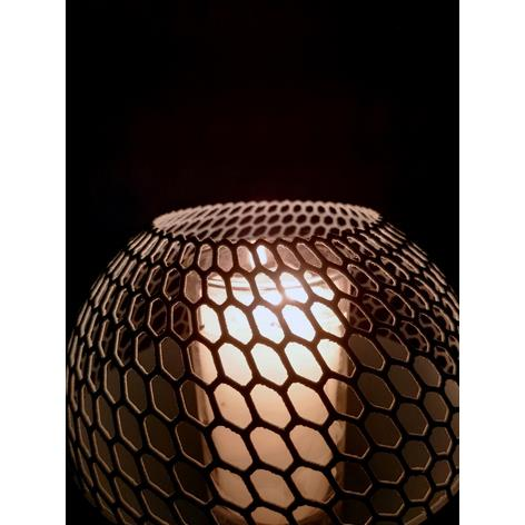 3D打印蜂窝烛台花瓶